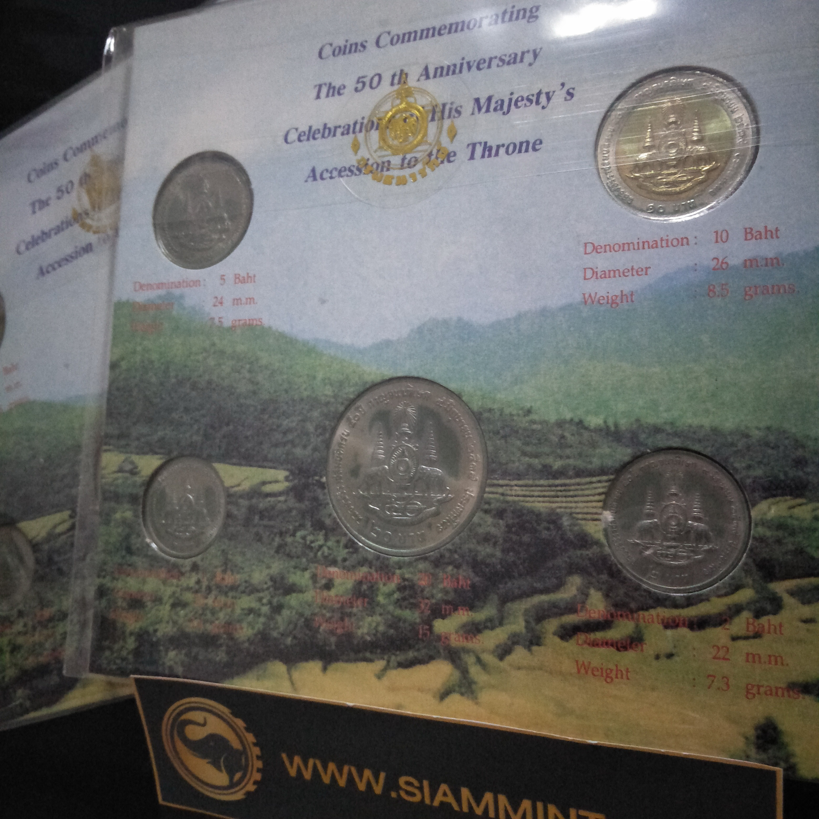 แผงเหรียญกษาปณ์ที่ระลึก กาญจนาภิเษก 2539