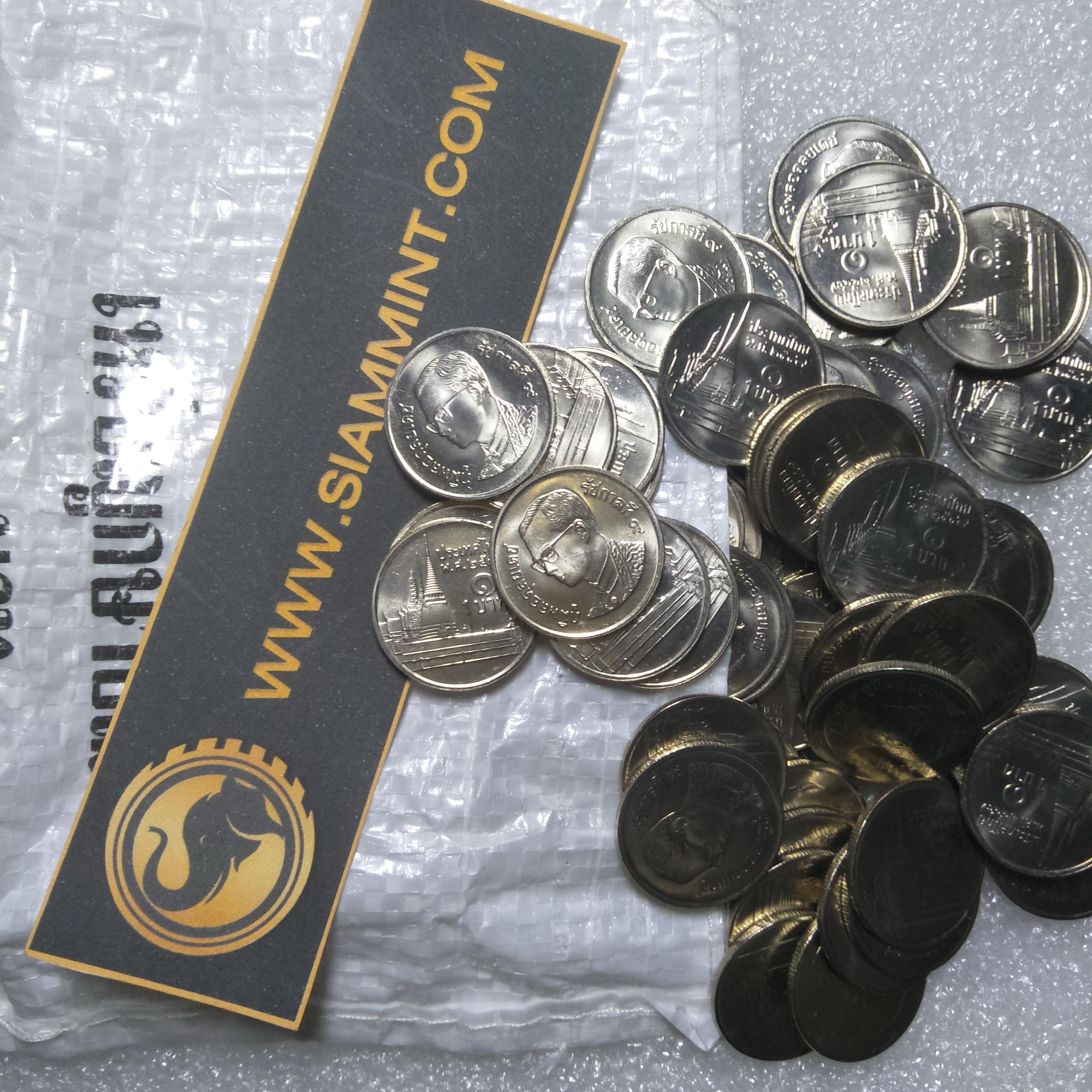 เหรียญ 1 บาท 2547 ไม่ผ่านใช้ UNC
